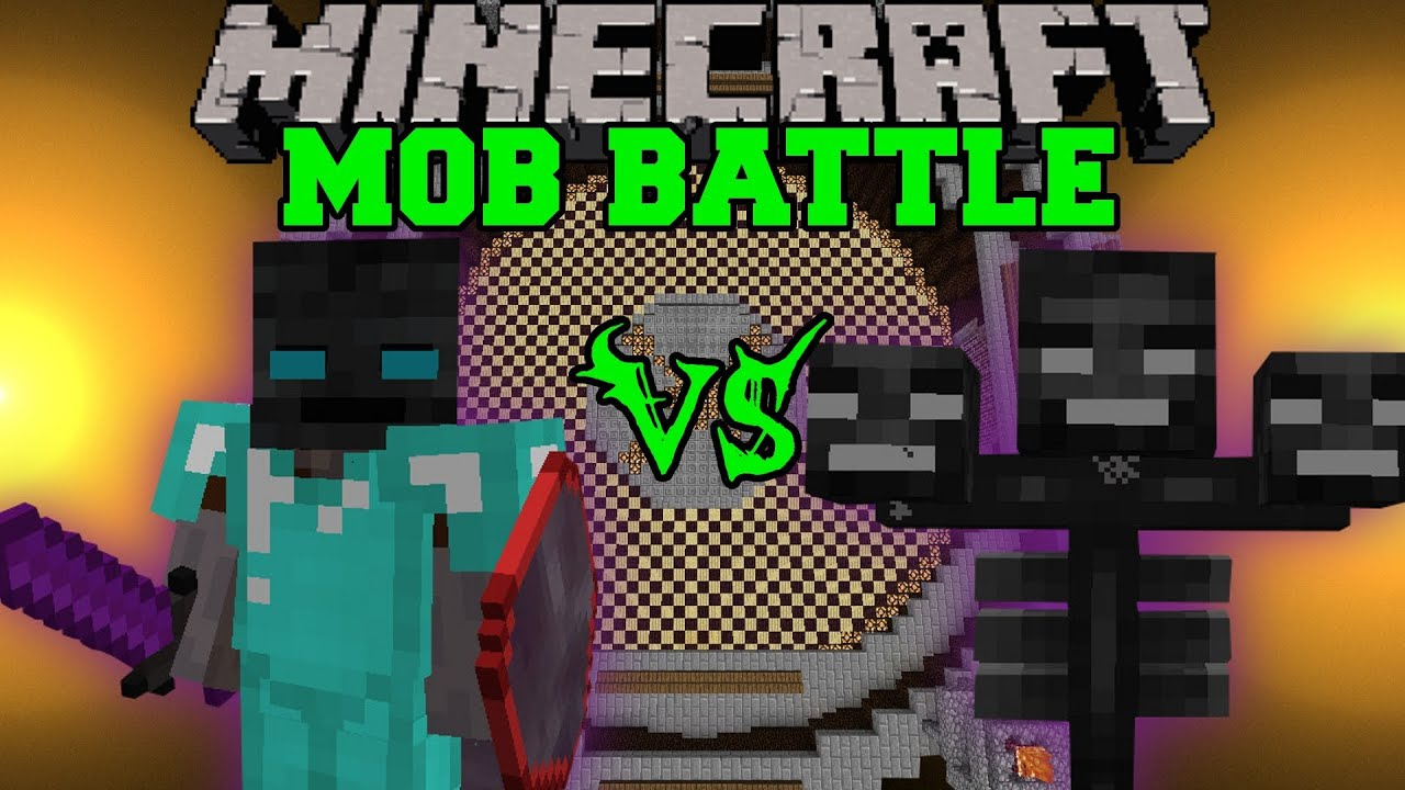 Wither Boss Vs Walker King Minecraft Mob Battles Youtube