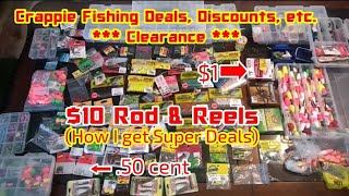 How I Get Super Deals 😱 CRAPPIE FISHING CLEARANCE SALES Crappie Town USA Baby