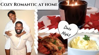 ROMANTIC STAY AT HOME DATE NIGHT | COOK WITH ME |