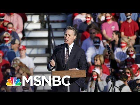 Georgia's Perdue Mocks Name Of His Own Senate Colleague, Kamala Harris | Rachel Maddow | MSNBC