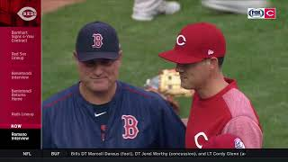 Father and son match up: John Farrell and Luke Farrell meet in Reds-Red Sox series