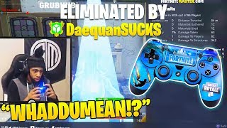 Daequan First Time Using CONTROLLER on Fortnite! (Hilarious Solo Matches!)