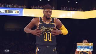 NBA 2K19 Roster (PC)   Lakers vs Warriors (2k18)   4K 60fps!