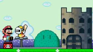 mario tries to destroy the castle