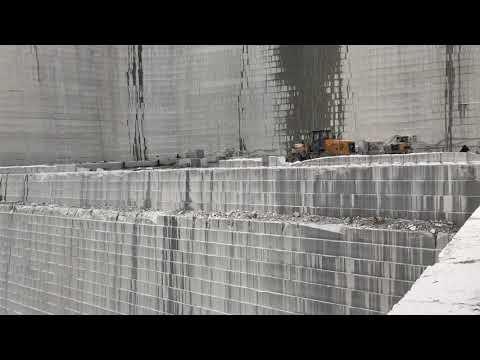 Silver grey granite quarry