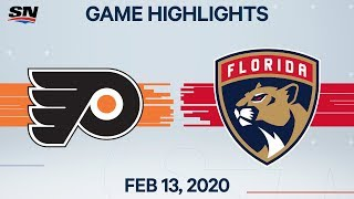 NHL Highlights | Flyers vs Panthers – Feb. 13, 2020