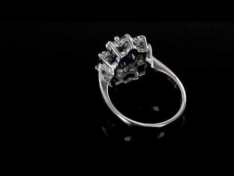 Browns Gemstones Collection 1.50ct Sapphire & Diamond White Gold Ring