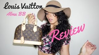 Louis Vuitton Alma BB Monogram Review| MaeJanaeBeauty