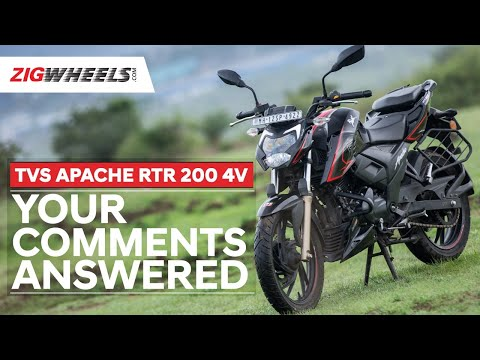 ????? TVS Apache RTR 200 4V: Your Comments Answered | Mileage, Looks, Engine & More