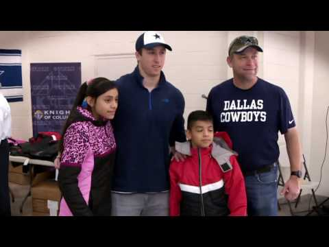 Dallas Cowboys Help 'Coats for Kids'