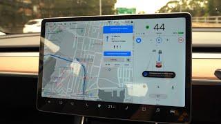 Navigate on Autopilot has landed down under in the Tesla Model 3! 2019.40.50.5