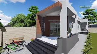 Nhà Cấp 4 Chữ L Mái Tôn 3 Phòng Ngủ - A Sơn Tây Ninh PA3 (3D)