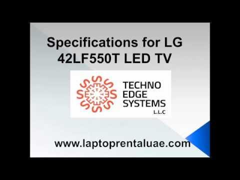 Specifications for LG 42LF550T LED TV Rental Dubai