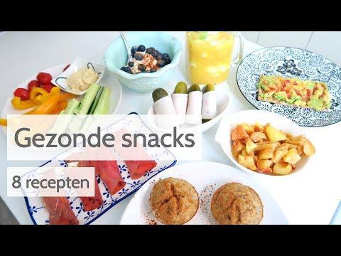 Gezonde Snacks - 8 Makkelijke en snelle recepten!