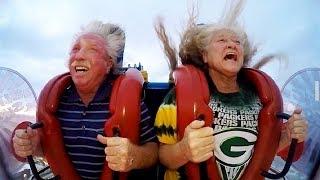 Old People   Funny Slingshot Ride Compilation