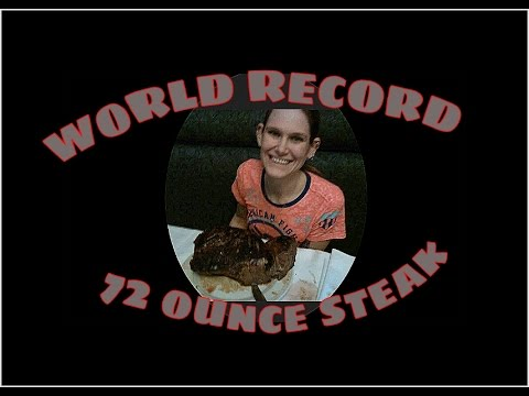 Tiny Woman Demolishes 72 Ounce Steak