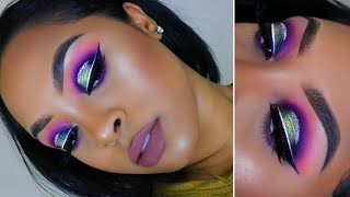 Colorful Halo Eye with Glitter! *Affordable* Makeup Tutorial