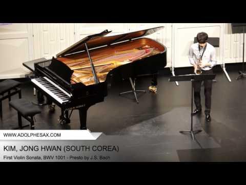 Dinant 2014 - Kim, Jong Hwan - First Violin Sonata, BWV 1001 - Presto by J.S. Bach
