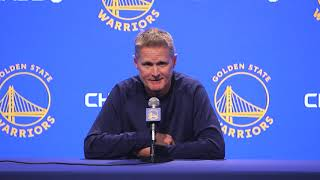 Steve Kerr's first comments following President Trump's criticism (full press conference)