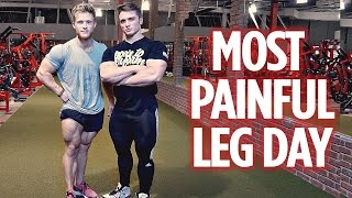 Most PAINFUL Leg Day Ever feat. Josh Vogel at Mi40 Gym