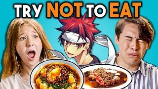 TRY NOT TO EAT CHALLENGE! - Anime Food   Teens & College Kids Vs. Food