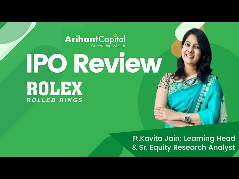 Rolex IPO REVIEW | Learning Head | Ft. Mrs. Kavita Jain | Sr. Equity Research Analyst
