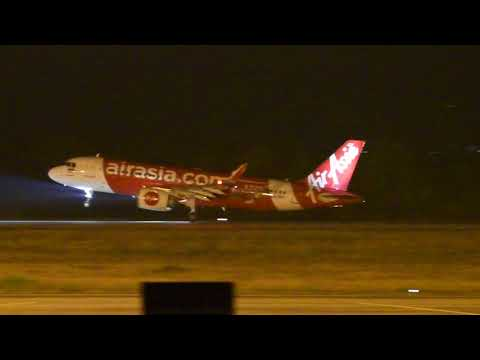 Thai AirAsia Airbus A320neo POWERFUL takeoff from Khon Kaen