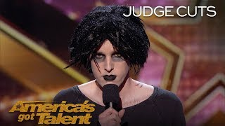 Oliver Graves: Gothic Comic Hilariously Describes His Life - America's Got Talent 2018