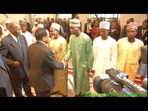 Les ex-otages chinois et camerounais au Palais de l'Unité