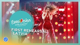 Laura Rizzotto - Funny Girl - First Rehearsal - Latvia - Eurovision 2018