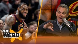 Colin Cowherd on LeBron's 40-pt triple-double and compares Jordan, Tiger and King James | THE HERD