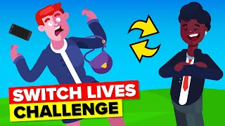 Switching Lives With Girlfriend for 48 Hours - FUNNY CHALLENGE & EXPERIMENT