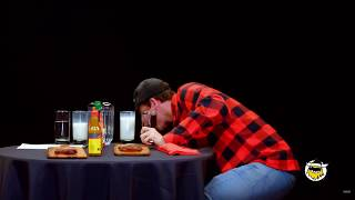 Hot Ones With Logic but He Keeps Spitting