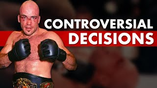 The 10 Most Controversial Decisions in MMA History