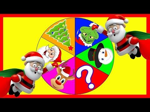 Santa Claus Spin the Wheel Game - PJ Masks, Trolls, Peppa Pig, Paw Patrol Christmas Toy Surprises
