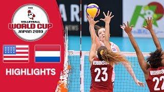 USA vs. NETHERLANDS - Highlights   Women's Volleyball World Cup 2019