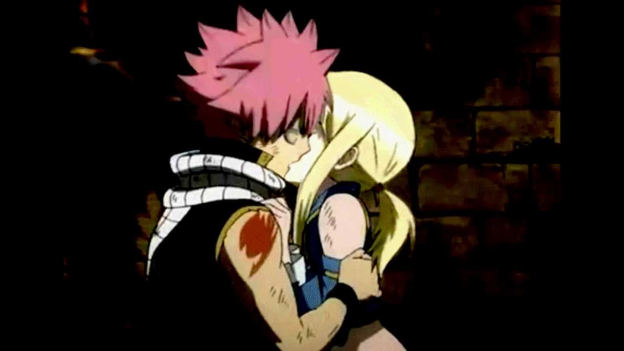 Natsu and Lucy kiss - NaLu [Fairy Tail] FANMADE - YouTube
