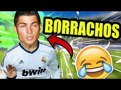Futbolistas BORRACHOS PSG vs REAL MADRID Cristiano Ronaldo vs Neymar