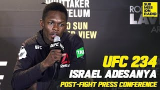 UFC 234: Israel Adesanya Reacts to Anderson Silva Win, What's Next!