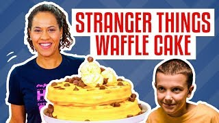 How To Make A Stack Of WAFFLES CAKE For ELEVEN From STRANGER THINGS | Yolanda Gampp | How To Cake It