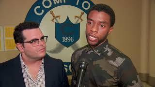 Spl Compton High School Screening of Marshall || Chadwick Boseman/Josh Gad/Sterling K. Brown