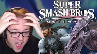 SUPER SMASH BROS. ULTIMATE REACTION! RIDLEY, SNAKE, WOLF, EVERYONE IS RETURNING!!!