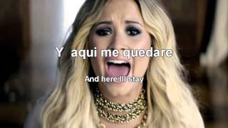 Demi Lovato   Let it go Letra Lyrics   Español Ingles