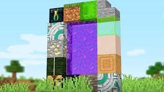Making a NETHER Portal with RANDOM Drops (Minecraft Randomizer Survival #2)