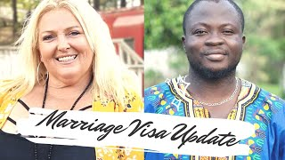 Michael & Angela Marriage Visa Application Update after their Wedding    90 Day Fiancé