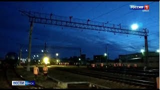 На железнодорожной станции Омск-Восточный 8 грузовых вагонов сошли с рельсов