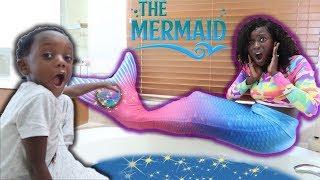 Magic Bath Bomb Turns Mom Into A Mermaid