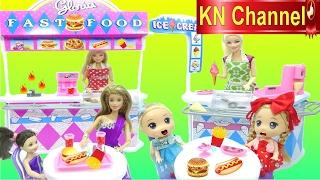 Đồ chơi trẻ em CỬA HÀNG THỨC ĂN NHANH VÀ KEM Toy review ice cream & fast food play set