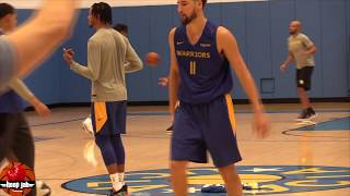 Klay Thompson Participating In Practice Anyway He Can. HoopJab NBA