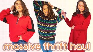 MASSIVE FALL THRIFT HAUL (so many amazing finds!!) ♡